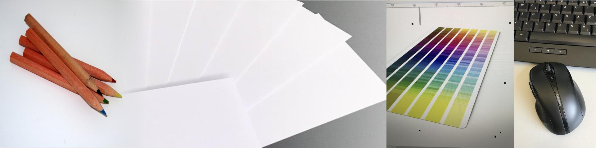 Gestaltung und Design von Flyern, Plakaten, Karten und mehr.